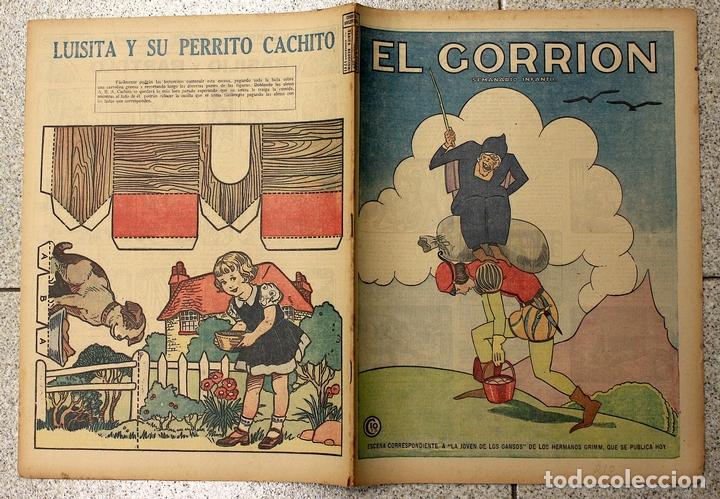 EL GORRION SEMANARIO INFANTIL. Nº 210. 9 DE DICIEMBRE 1936. RECORTABLE LUISITA Y SU PERRITO CACHITO (Tebeos y Comics - Tebeos Clásicos (Hasta 1.939))