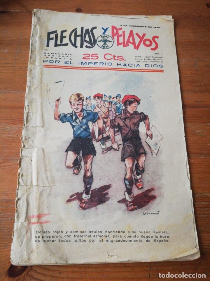 FLECHAS Y PELAYOS. NÚMERO 1. 1938 (Tebeos y Comics - Tebeos Clásicos (Hasta 1.939))