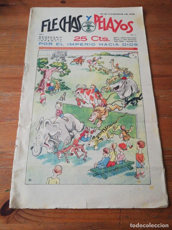 FLECHAS Y PELAYOS. NÚMERO 2. 1938 (Tebeos y Comics - Tebeos Clásicos (Hasta 1.939))