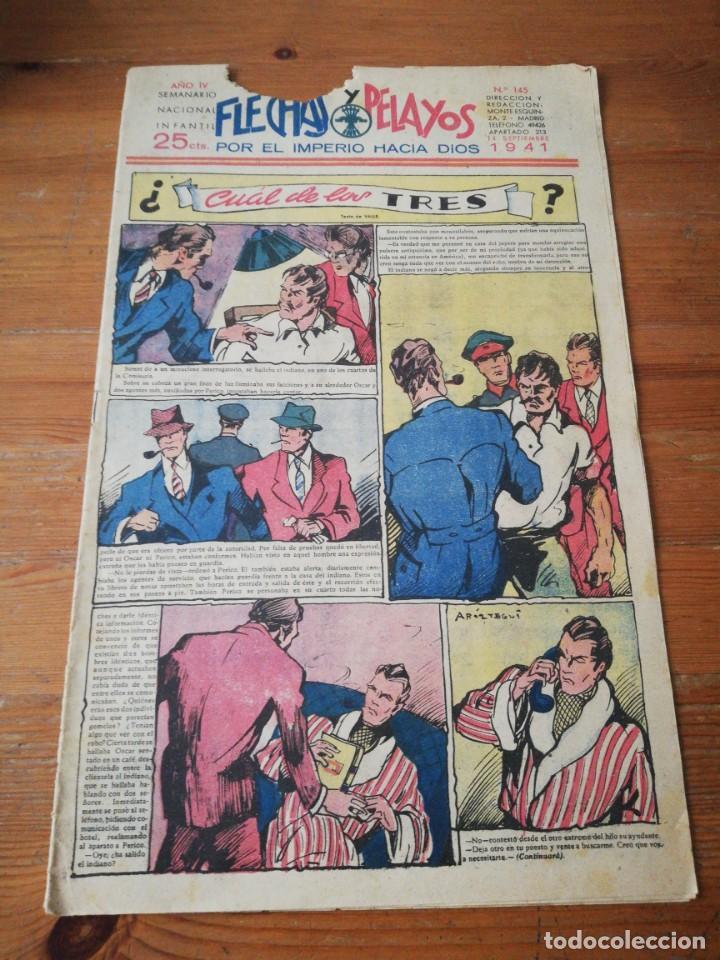 FLECHAS Y PELAYOS. NÚMERO 145. 1941 (Tebeos y Comics - Tebeos Clásicos (Hasta 1.939))