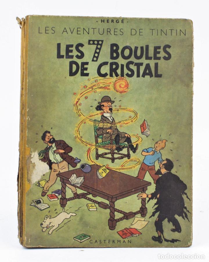 LES AVENTURES DE TINTIN, LES 7 BOULES DE CRISTAL, 1948, CASTERMAN, PARIS. 30,5X23CM (Tebeos y Comics - Tebeos Otras Editoriales Clásicas)