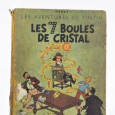 Tebeos: LES AVENTURES DE TINTIN, LES 7 BOULES DE CRISTAL, 1948, CASTERMAN, PARIS. 30,5X23CM. Lote 155923578