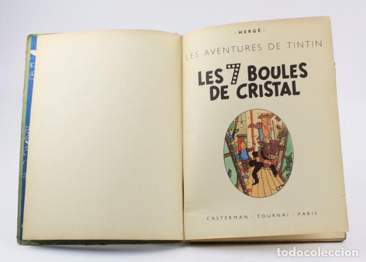 Tebeos: Les aventures de Tintin, les 7 boules de cristal, 1948, Casterman, Paris. 30,5x23cm - Foto 5 - 155923578