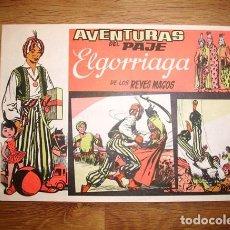 Tebeos: AVENTURAS DEL PAJE ELGORRIAGA DE LOS REYES MAGOS. [Nº 1]. Lote 155951050