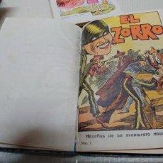 Tebeos: MUY RARA COLECCION COMPLETA ENCUADERNADA EL ZORRO HAZAÑAS DE UN AVENTURERO MISTERIOSO 16 MIREN FOTOS. Lote 156003074
