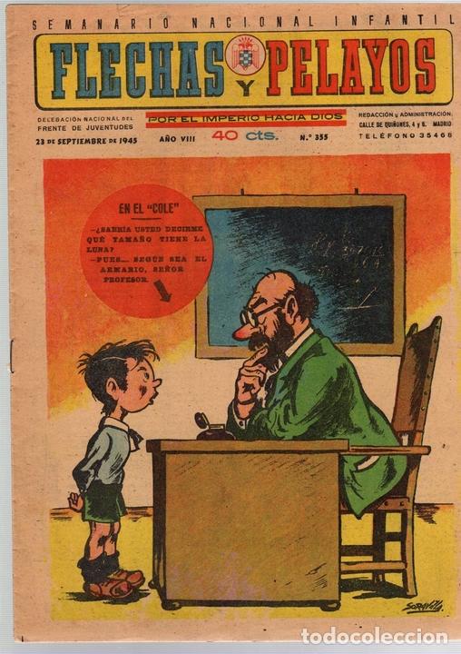FLECHAS Y PELAYOS. Nº 355. 23 DE SEPTIEMBRE DE 1945 (Tebeos y Comics - Tebeos Otras Editoriales Clásicas)