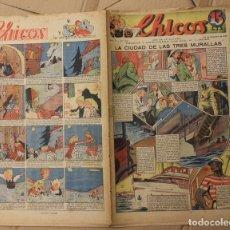 Tebeos: CHICOS. Nº 95. 27 DE DICIEMBRE DE 1939. INCLUYE CUADERNILLO CENTRAL LAS ROSAS DE SANTA CASILDA. Lote 156151685