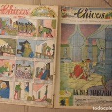 Tebeos: CHICOS. Nº 51. 22 DE FEBRERO DE 1939. INCLUYE CUADERNILLO CENTRAL ANDANZAS DE TOMASITA. Lote 156152660