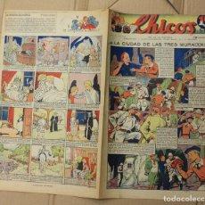 Tebeos: CHICOS. Nº 92. 6 DE DICIEMBRE DE 1939. INCLUYE CUADERNILLO CENTRAL ESTAMPAS DE ESPAÑA. Lote 156155322