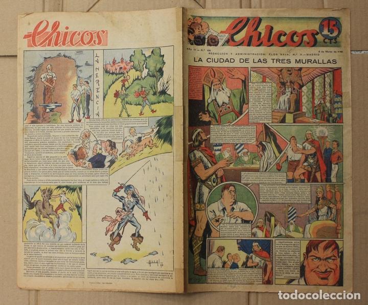 CHICOS. Nº 105. 6 DE MARZO DE 1940. INCLUYE CUADERNILLO CENTRAL ESTAMPAS DE ESPAÑA (Tebeos y Comics - Tebeos Otras Editoriales Clásicas)