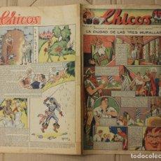 Tebeos: CHICOS. Nº 105. 6 DE MARZO DE 1940. INCLUYE CUADERNILLO CENTRAL ESTAMPAS DE ESPAÑA. Lote 156155930