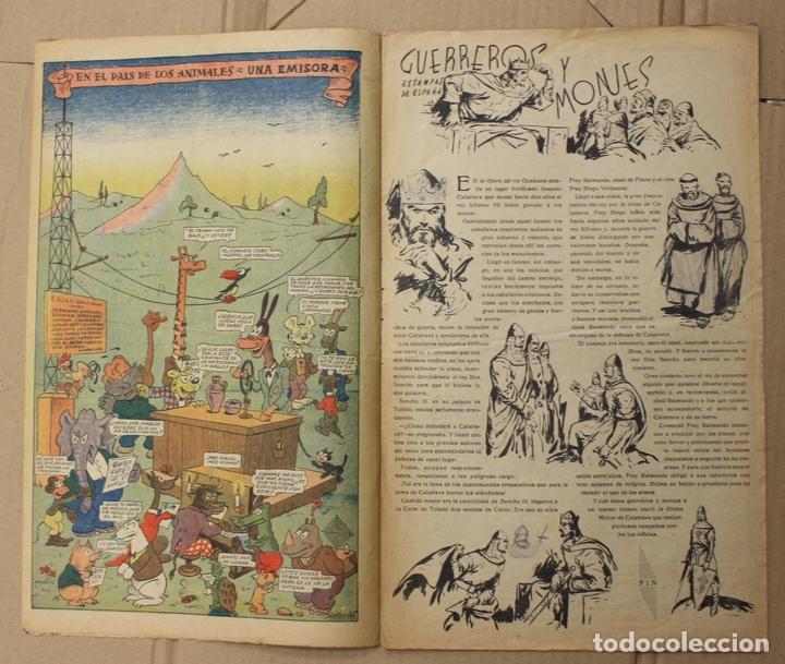 Tebeos: CHICOS. Nº 105. 6 DE MARZO DE 1940. INCLUYE CUADERNILLO CENTRAL ESTAMPAS DE ESPAÑA - Foto 2 - 156155930