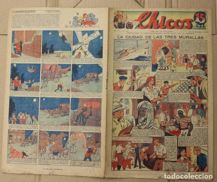 CHICOS. Nº 91. 29 DE NOVIEMBRE DE 1939. INCLUYE CUADERNILLO CENTRAL ESTAMPAS DE ESPAÑA (Tebeos y Comics - Tebeos Otras Editoriales Clásicas)