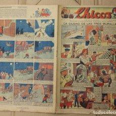 Tebeos: CHICOS. Nº 91. 29 DE NOVIEMBRE DE 1939. INCLUYE CUADERNILLO CENTRAL ESTAMPAS DE ESPAÑA. Lote 156156921