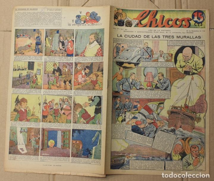 CHICOS. Nº 90. 22 DE NOVIEMBRE DE 1939. INCLUYE CUADERNILLO CENTRAL EL VICTORIOSO (Tebeos y Comics - Tebeos Otras Editoriales Clásicas)