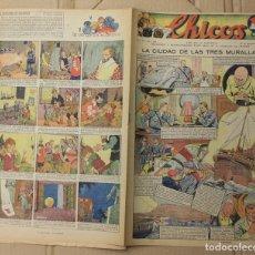 Tebeos: CHICOS. Nº 90. 22 DE NOVIEMBRE DE 1939. INCLUYE CUADERNILLO CENTRAL EL VICTORIOSO. Lote 156158312