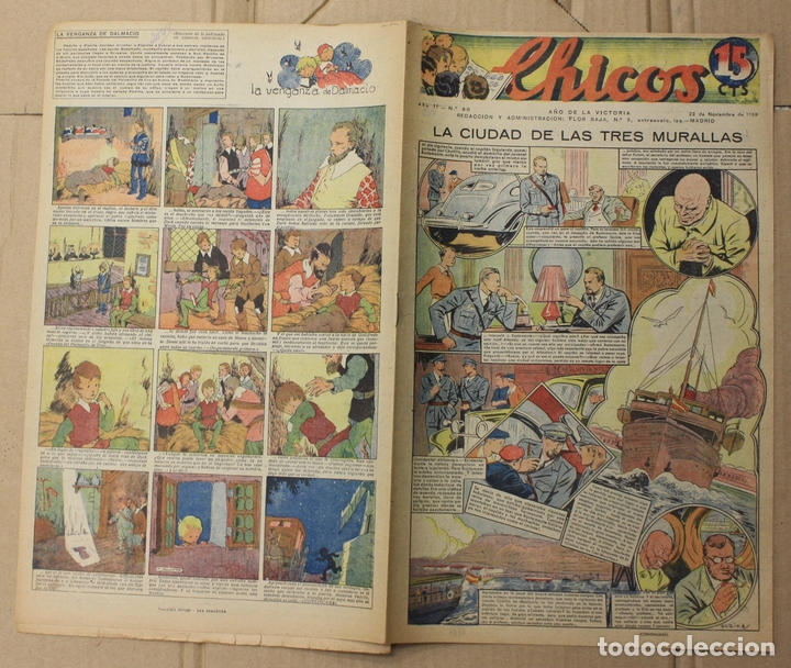 Tebeos: CHICOS. Nº 90. 22 DE NOVIEMBRE DE 1939. INCLUYE CUADERNILLO CENTRAL EL VICTORIOSO - Foto 2 - 156158312
