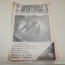 Tebeos: MUY RARO LOTE DE 21 COMIC AVENTURAS REVISTA SEMANAL DE EMOCIÓN Y MISTERIO EL GATO NEGRO MIREN FOTOS. Lote 156391346