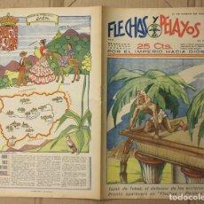 Tebeos: FLECHAS Y PELAYOS. Nº 59. 21 DE ENERO DE 1940. 25 CTS. Lote 156511032