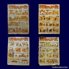 Tebeos: LOTE 4 PULGARCITO – Nº 722 - 726 -727 - 728 – (1921, EDITORIAL GATO NEGRO) AÑO 1935. Lote 157751706