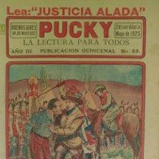 Tebeos: REVISTA PUCKY NUM. 89 MATERIAL DE COKECCION. ARGENTINA. AÑO 1925. UNICA!!. Lote 158545168