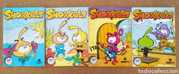 LOTE SELECCIÓN REVISTA SNORKELS: NÚMEROS 1-2-3-4 (MULTILIBRO, 1986-1987). (Tebeos y Comics - Tebeos Otras Editoriales Clásicas)