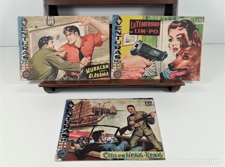 AVENTURAS DEL FBI. 3 EJEMPLARES. EDIC. EDICOLOR. MADRID. 1957/58. (Tebeos y Comics - Tebeos Otras Editoriales Clásicas)