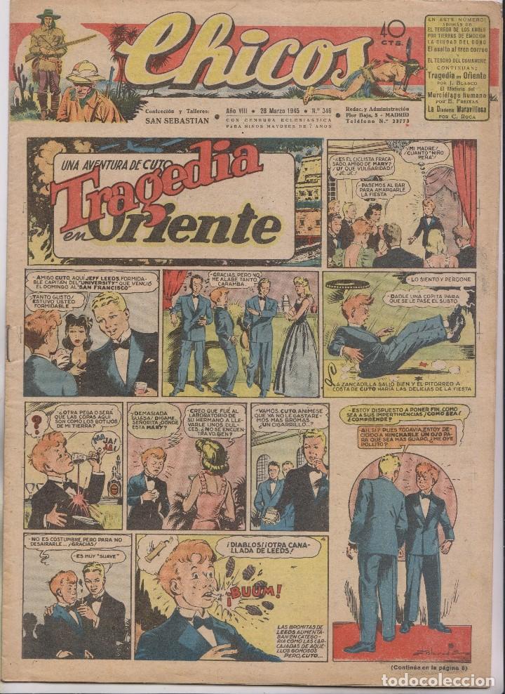 CHICOS. Nº 346. 28 MARZO 1945. SAN SEBASTIÁN (Tebeos y Comics - Tebeos Clásicos (Hasta 1.939))