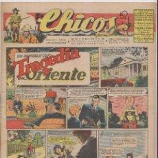 Tebeos: CHICOS. Nº 345. 21 MARZO 1945. SAN SEBASTIÁN. Lote 162420766