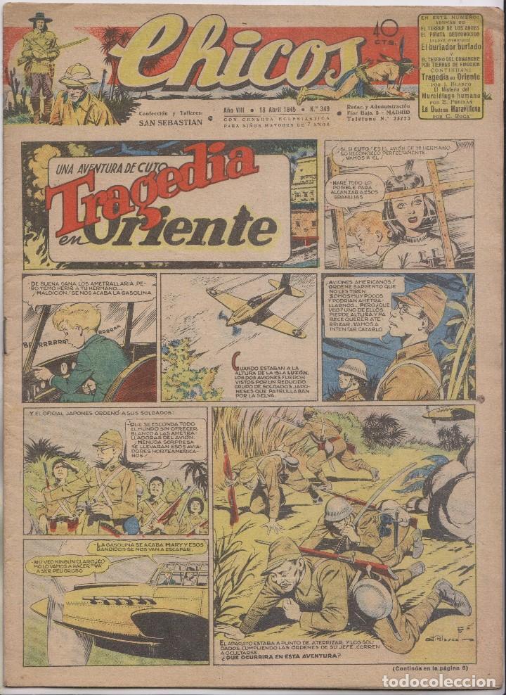 CHICOS. Nº 349. 18 ABRIL 1945. SAN SEBASTIÁN (Tebeos y Comics - Tebeos Clásicos (Hasta 1.939))