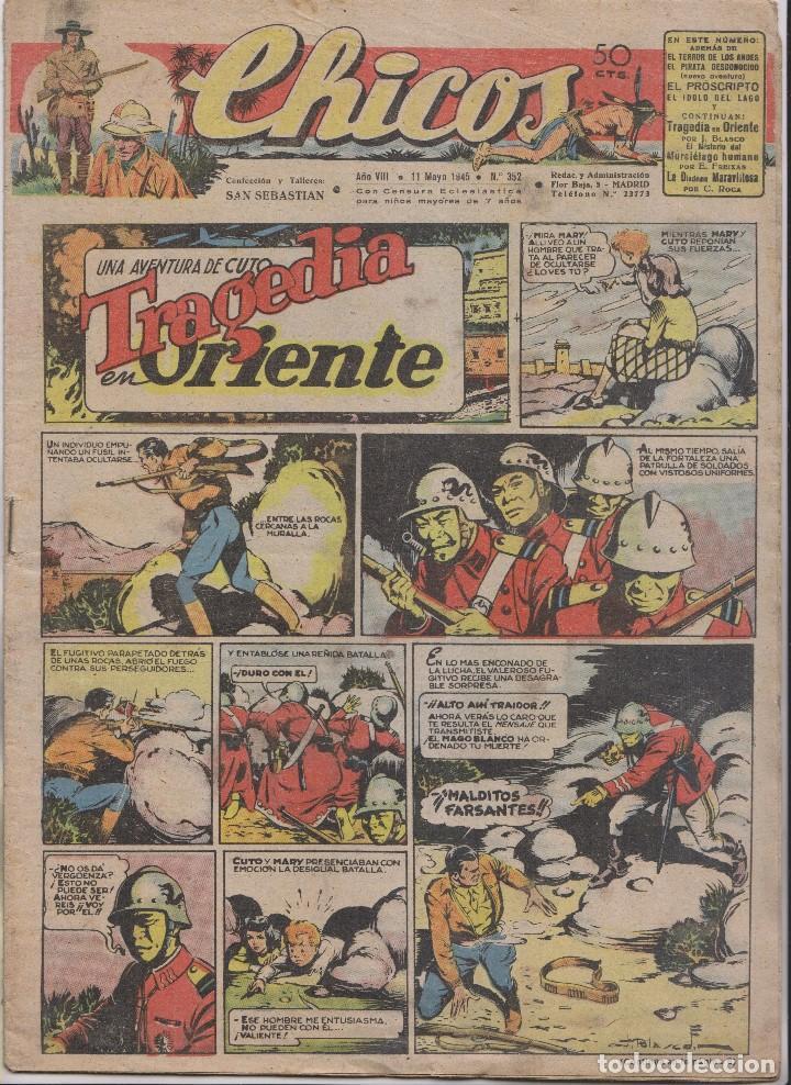 CHICOS. Nº 352. 11 MAYO 1945. SAN SEBASTIÁN (Tebeos y Comics - Tebeos Clásicos (Hasta 1.939))