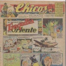Tebeos: CHICOS. Nº 351. 2 MAYO 1945. SAN SEBASTIÁN . Lote 162448870
