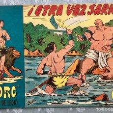 Tebeos: TORG HIJO DE LEON NUMERO 7. ORIGINAL. EDITORIAL ANDALUZA 1960. ¡OTRA VEZ SARKO! DIBUJANTE ROLDAN. Lote 164986018