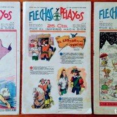 Tebeos: FLECHAS Y PELAYOS NÚMEROS 38, 44 Y 60. 1939 - 40. Lote 165742318