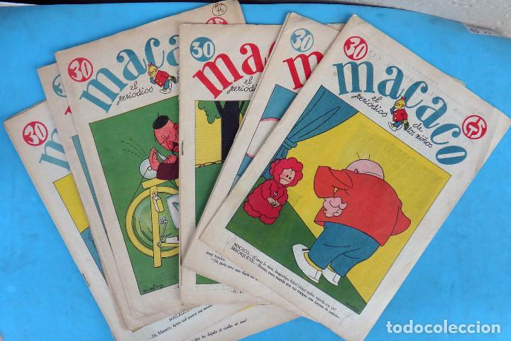 LOTE DE 12 MACACO ORIGINALES ANTIGUOS , AÑOS DE ORO, CON RECORTABLE , VER FOTOS ADICIONALES, CT1 (Tebeos y Comics - Tebeos Clásicos (Hasta 1.939))