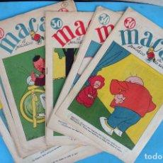 Tebeos: LOTE DE 12 MACACO ORIGINALES ANTIGUOS , AÑOS DE ORO, CON RECORTABLE , VER FOTOS ADICIONALES, CT1. Lote 167816036