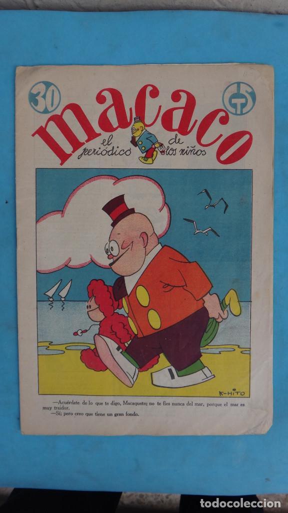 Tebeos: LOTE DE 12 MACACO ORIGINALES ANTIGUOS , AÑOS DE ORO, CON RECORTABLE , VER FOTOS ADICIONALES, CT1 - Foto 3 - 167816036