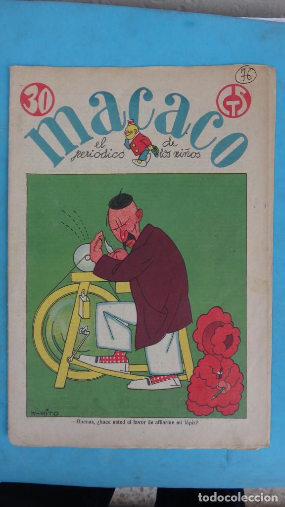 Tebeos: LOTE DE 12 MACACO ORIGINALES ANTIGUOS , AÑOS DE ORO, CON RECORTABLE , VER FOTOS ADICIONALES, CT1 - Foto 9 - 167816036