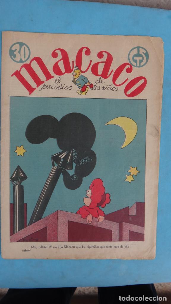 Tebeos: LOTE DE 12 MACACO ORIGINALES ANTIGUOS , AÑOS DE ORO, CON RECORTABLE , VER FOTOS ADICIONALES, CT1 - Foto 11 - 167816036