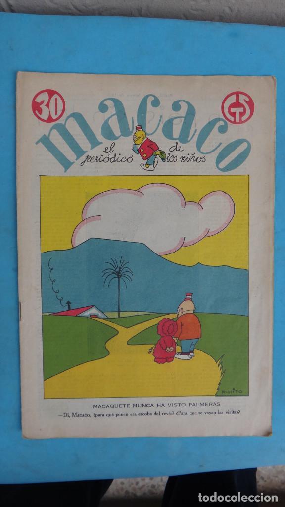 Tebeos: LOTE DE 12 MACACO ORIGINALES ANTIGUOS , AÑOS DE ORO, CON RECORTABLE , VER FOTOS ADICIONALES, CT1 - Foto 15 - 167816036