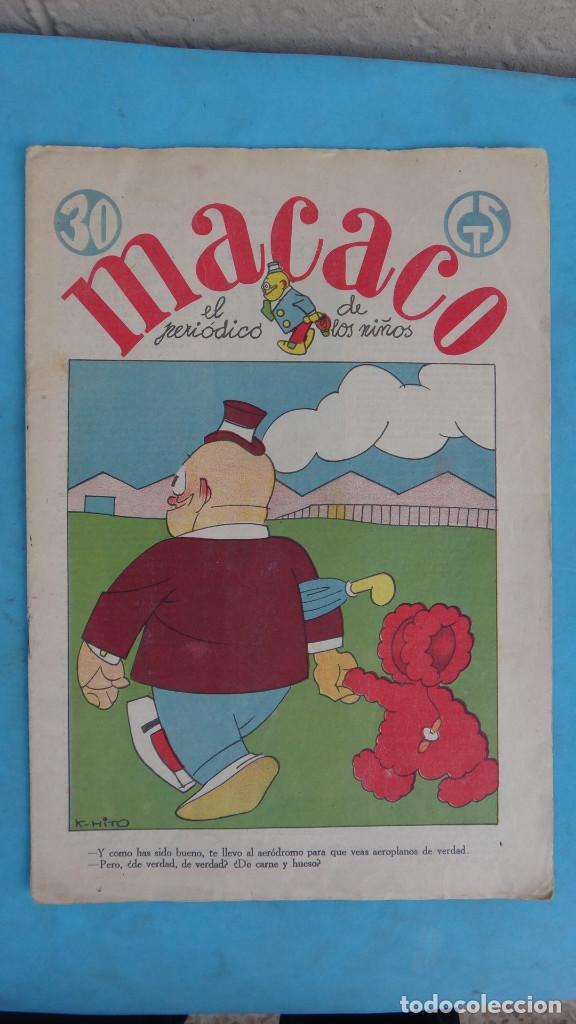 Tebeos: LOTE DE 12 MACACO ORIGINALES ANTIGUOS , AÑOS DE ORO, CON RECORTABLE , VER FOTOS ADICIONALES, CT1 - Foto 21 - 167816036