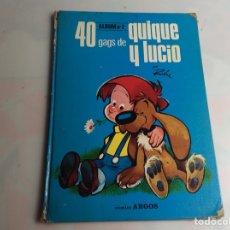 Tebeos: 40 GAGS DE QUIQUE Y LUCIO - ALBUM Nº 2 -ED. ARGOS 1971 -DIBUJOS: ROBA. Lote 57192281