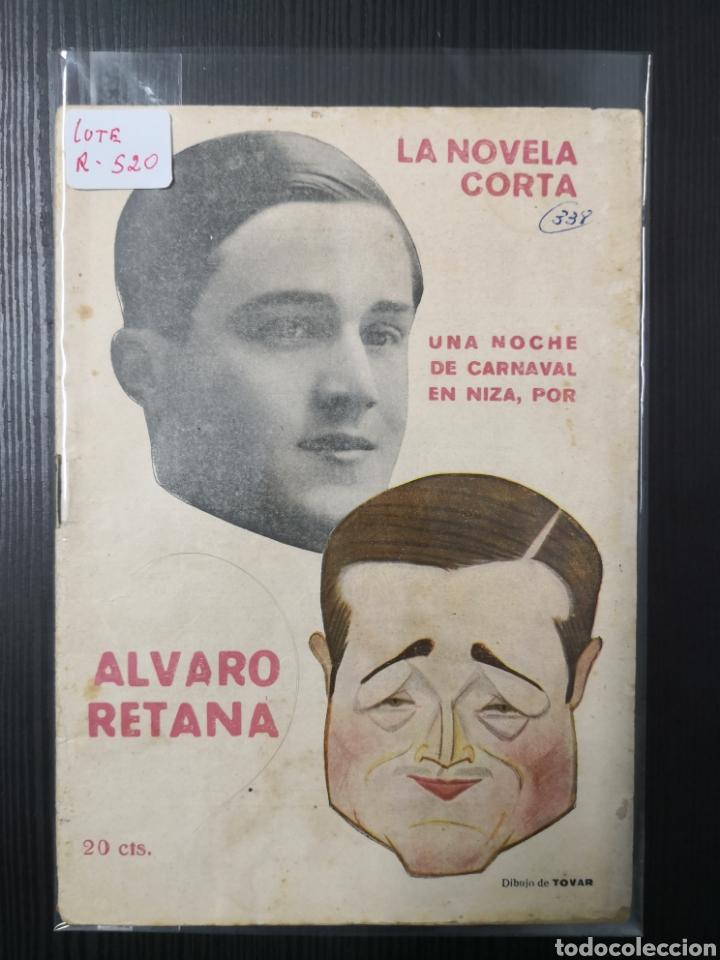 LA NOVELA CORTA DE ÁLVARO RETENA Y DIBUJO DE TOVAR. 1922. UNA NOCHE DE CARNAVAL EN NIZA (Tebeos y Comics - Tebeos Clásicos (Hasta 1.939))