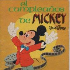 Tebeos: MINI CUENTO - EL CUMPLEAÑOS DE MICKEY - WALT DISNEY - EDICIONES SUSAETA - 1973. Lote 171249345