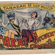 Tebeos: TARAZAN DE LOS MICOS, VALENCIANA 1944, Nº 4 . ORIGINAL EN BUEN ESTADO. Lote 171592887