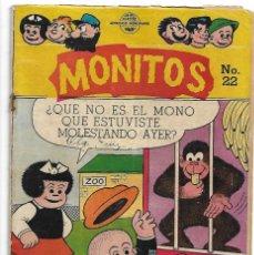 Tebeos: MONITOS Nº 22, MEXICO 1953,COMO NOVARO. ORIGINAL RARISIMO BUEN ESTADO Y MUY BONITO- LEER TODO. Lote 171593374