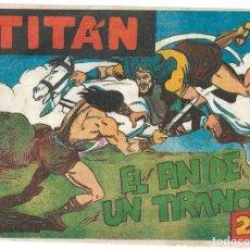 Tebeos: TITAN Nº 40 Y ÚLTIMO, ACRÓPOLIS 1960 EN BUEN ESTADO, VER FOTOS. Lote 171595323