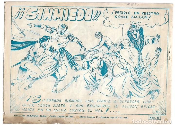 Tebeos: TITAN Nº 40 Y ÚLTIMO, ACRÓPOLIS 1960 EN BUEN ESTADO, VER FOTOS - Foto 2 - 171595323
