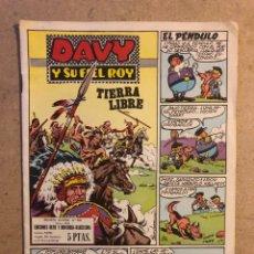 Tebeos: DAVY Y SU FIEL ROY N° 338 TIERRA LIBRE (EDICIONES OLIVE Y HONTORIA 1958).. Lote 194702998