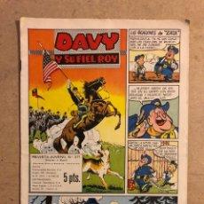 Tebeos: DAVE Y SU FIEL ROY N° 371 (EDICIONES OLIVE Y HONTORIA 1958).. Lote 194703016